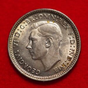 DATED: 1943   AUSTRALIA THREE PENCE SILVER COIN   LOT 170