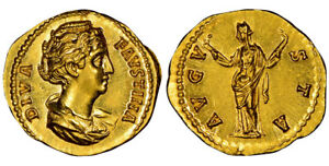 Click now to see the BUY IT NOW Price! ROMAN IMP FAUSTINA THE ELDER POSTHUMOUS AFTER 141 AD AV AUREUS NGC CH MS 5/5 5/5