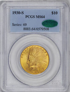 Click now to see the BUY IT NOW Price! 1930 S INDIAN $10 PCGS MS 64