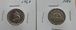 2 CANADIAN 5 CENT