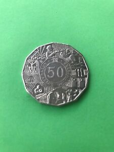 SHINE 2003 AUSTRALIAN FIFTY CENT COIN AUSTRALIA'S VOLUNTEERS LUSTRE 50C LUSTRE