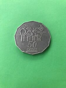 1994 AUSTRALIAN FIFTY CENT COIN YEAR OF THE FAMILY 50C PIECE