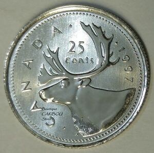 1997 CANADA PROOF LIKE 25 CENTS