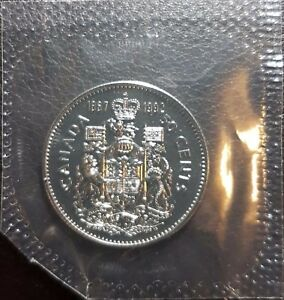 1992 CANADA 50 CENTS SEALED PROOF LIKE   125TH ANNIVERSARY DOUBLE DATE 1867 1992