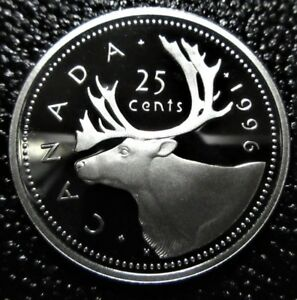 1996 CANADA 25 CENTS SILVER PROOF   DEEP CAMEO   UNCIRCULATED