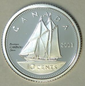 2003 CANADA SILVER PROOF 10 CENTS