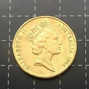 1994 AUSTRALIAN $1 ONE DOLLAR COIN   MOB OF ROOS   EF