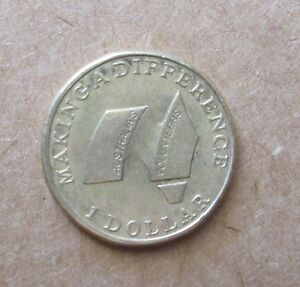AUSTRALIA YEAR 2003 MAKING A DIFFERENCE LOWER MINTAGE  $1.00 DOLLAR COIN .