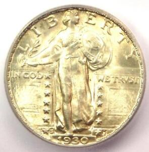 1930 S STANDING LIBERTY QUARTER 25C COIN   CERTIFIED ICG MS66   $710 VALUE