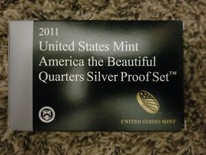 2011 U.S. MINT AMERICA THE BEAUTIFUL SILVER QUARTER PROOF SET WITH BOX COA