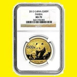 Click now to see the BUY IT NOW Price! 2012 CHINA 500Y 1 OZ GOLD PANDA NGC MS 70  1
