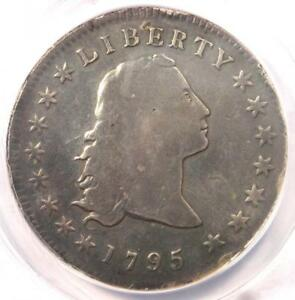 1795 FLOWING HAIR SILVER DOLLAR  $1 COIN    ANACS VG8 DETAIL    COIN