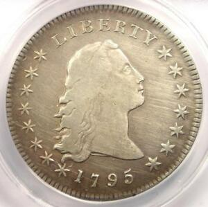 1795 FLOWING HAIR SILVER DOLLAR  $1 COIN    ANACS VF20 DETAILS    COIN