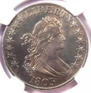 1803 DRAPED BUST HALF DOLLAR 50C   NGC AU DETAILS    CERTIFIED COIN