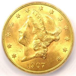 1907 S LIBERTY GOLD DOUBLE EAGLE $20 COIN   CERTIFIED ICG MS64   $4 030 VALUE