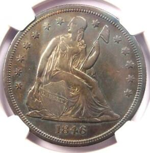 1846 O SEATED LIBERTY SILVER DOLLAR $1   CERTIFIED NGC AU DETAILS    COIN
