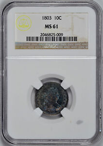Click now to see the BUY IT NOW Price! 1803 DRAPED BUST 10C NGC MS 61