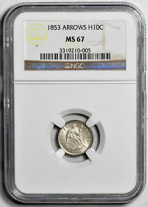 Click now to see the BUY IT NOW Price! 1853 LIBERTY SEATED H10C NGC MS 67