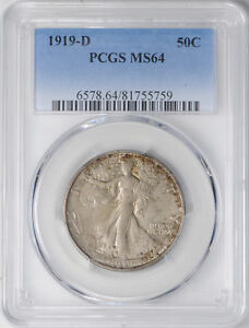 Click now to see the BUY IT NOW Price! 1919 D WALKING LIBERTY 50C PCGS MS 64