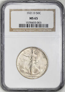 Click now to see the BUY IT NOW Price! 1921 D WALKING LIBERTY 50C NGC MS 65