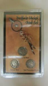 BUFFALO NICKEL MINT SET COLLECTION 1935 P D S IN DISPLAY CASE
