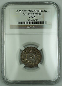 Click now to see the BUY IT NOW Price! 955 959 ENGLAND ONE PENNY SILVER COIN  MONEYER S 1122 EADWIG NGC XF 40 AKR