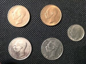 LOT OF 5 LUXEMBOURG COINS 1   20 FRANCS PRE EURO