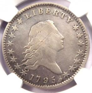 1795 FLOWING HAIR BUST HALF DOLLAR 50C A/E O 113A VARIETY   NGC FINE DETAILS