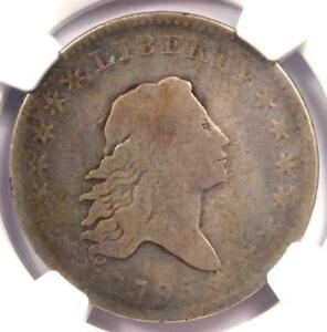 1795 FLOWING HAIR HALF DOLLAR 50C COIN   CERTIFIED NGC VG8   $1 560 VALUE