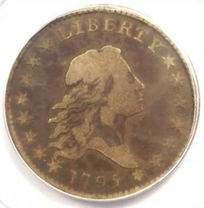 1795 FLOWING HAIR HALF DOLLAR 50C COIN   CERTIFIED PCGS F15   $2 750 VALUE