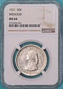 1921 MS 64 MISSOURI UNCIRCULATED SILVER EARLY COMMEMORATIVE HALF 10 428 MINTED2