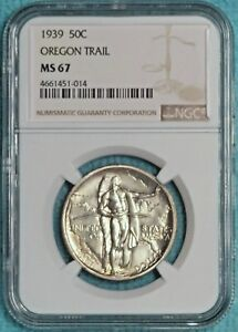 1939 P MS 67 OREGON TRAIL EARLY COMEMEMORATIVE HALF 3 004 MINTED UNCIRCULATED 2