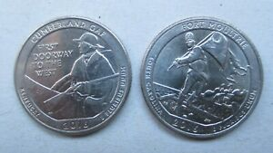 2016 CUMBERLAND CUP FORT MOULTRIE D   NATIONAL PARK  QUARTER COIN LOT