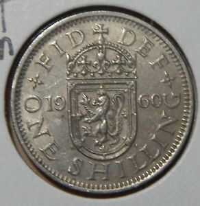 1960 GREAT BRITAIN 1 SHILLING KM905