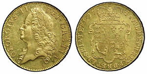 Click now to see the BUY IT NOW Price! BRITAIN GEORGE II 1748 AV FIVE GUINEAS. PCGS MS62. S 3666 LUSTROUS SURFACES.
