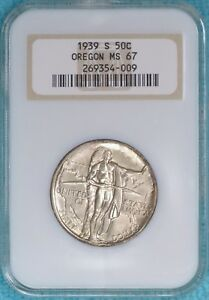 1939 S MS 67 OREGON TRAIL EARLY COMEMEMORATIVE HALF 3 005 MINTED UNCIRCULATED