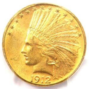 1912 S INDIAN GOLD EAGLE  $10 COIN    PCGS MS63  CHOICE BU    $5 000 VALUE