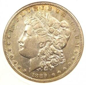 1889 CC MORGAN SILVER DOLLAR $1   CERTIFIED ANACS XF45  EF45    $4 569 VALUE