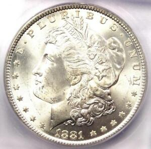 1881 P  1881  MORGAN SILVER DOLLAR $1   ICG MS65    IN MS65   $660 VALUE