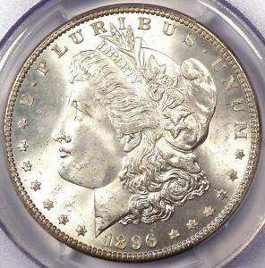 1896 MORGAN SILVER DOLLAR   PCGS MS66  PQ    PLUS GRADE GEM   $950 VALUE