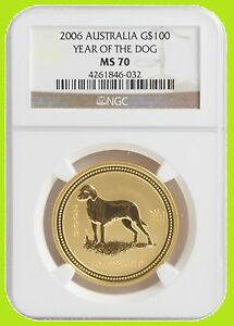 Click now to see the BUY IT NOW Price! 2006 CHINESE LUNAR YEAR OF THE DOG NGC MS 70 AUSTRALIA 1 OZ 9999 GOLD