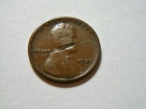1923 S VF  LINCOLN WHEAT CENT WITH LAMINATION ERROR  NICE  BETTER DATE  ERROR