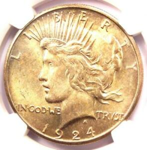 1924 S PEACE SILVER DOLLAR $1 COIN   NGC MS64  PQ