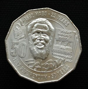 AUSTRALIA 50 CENTS 2017 25 YEARS   MABO DECISION & 50 YEARS   1967 REFERENDUM