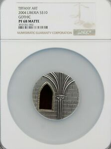 Click now to see the BUY IT NOW Price! 10$   LIBERIA 2004  TIFFANY ART   NGC PF68 MATTE