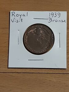1939 CANADA COMMEMORATIVE ROYAL VISIT  SMALL MEDALLION  NICE GRADE