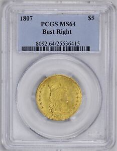 Click now to see the BUY IT NOW Price! 1807 DRAPED BUST $5 PCGS MS 64