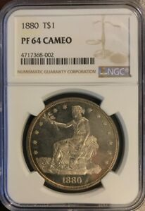 1880 PROOF TRADE DOLLAR PF64 CAMEO NGC  HV:1