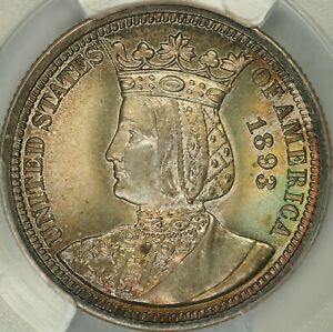 Click now to see the BUY IT NOW Price! 1893 ISABELLA QUARTER PCGS MS66