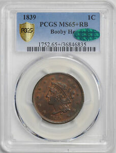 Click now to see the BUY IT NOW Price! 1839 CORONET HEAD 1C PCGS MS 65  RB